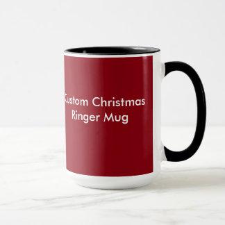 Custom Christmas Ringer Mug