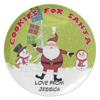 Custom Christmas Santa Cookie Plate