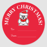 Custom Christmas Santa to and from tag stickers