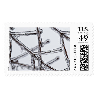 Custom Christmas Snowflake iPhone Case Postage Stamps