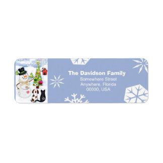 Custom Christmas Snowmen Return Address Labels
