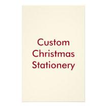 Custom Christmas Stationery