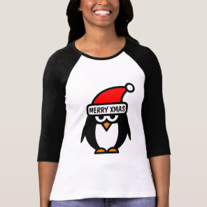 Custom Christmas t shirts with penguin cartoon