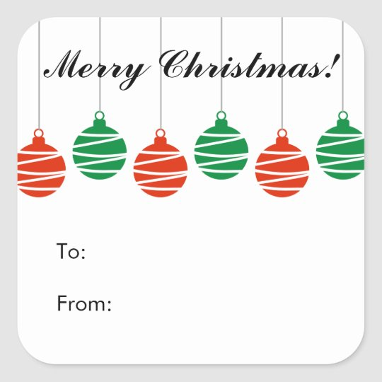 Personalized Christmas Gift Tags: Custom Christmas To And From Gift Tag Stickers