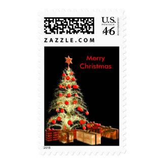 Custom Christmas Tree Postage Stamp