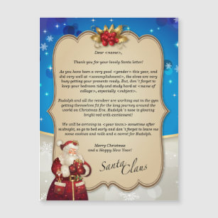 letter from santa cards zazzle
