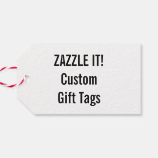 Custom Christmas White Gift Tag Blank Template Pack Of Gift Tags