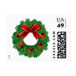 Custom Christmas Wreath Postage Stamps 2014