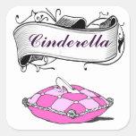 Custom Cinderella Slipper Pink Pillow Sticker