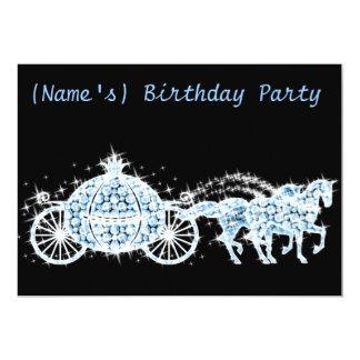 Custom Cinderella's Carriage Birthday Party Invite
