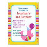 Custom Circus Birthday Party Custom Announcement