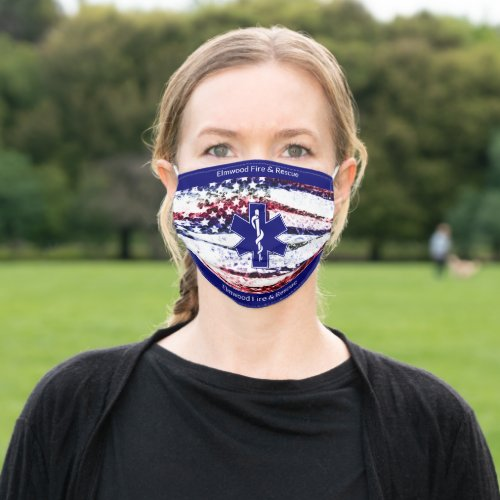 Custom City Fire and Rescue Reuseable Cloth Face Mask