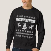 Custom City Name Ugly Christmas Sweater Reindeer