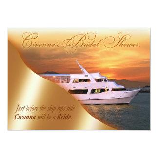 ::CUSTOM:: Civonna's Yacht Bridal Shower 5x7 Paper Invitation Card