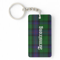Custom Clan Armstrong Tartan Plaid Key Chain