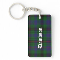Custom Clan Davidson Tartan Plaid Key Chain