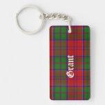 Custom Clan Grant Tartan Plaid Key Chain