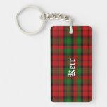 Custom Clan Kerr Tartan Plaid Key Chain