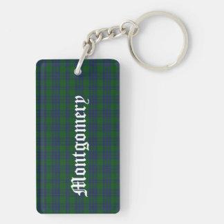 Custom Clan Montgomery Tartan Plaid Key Chain
