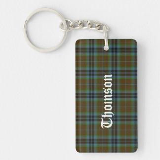 Custom Clan Thomson Tartan Plaid Key Chain