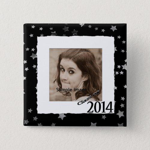 Custom Class of 2014 Graduation Photo Frame Stars Button