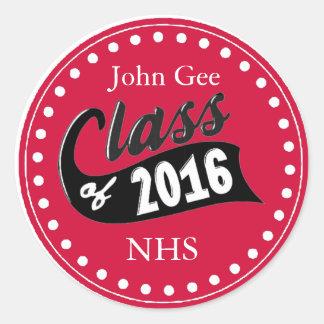 Custom Class Of 2016 Stickers Template