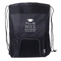 Custom class of 2020 school graduation party favor drawstring backpack