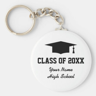 Custom class of graduation party favor keychains