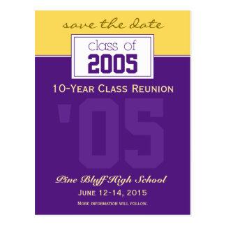 Custom Class Reunion Save-the-Date Announcement Postcard