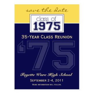 custom Class Reunion Save-the-Date Announcement Post Card