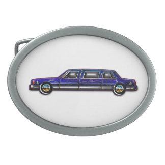 Custom Classic Dark Blue Stretch Limousine Belt Buckle