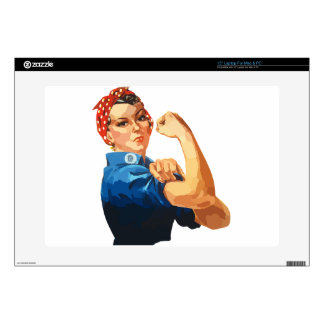 """Custom Classic Rosie The Riveter Decals For 15"""" Laptops"""
