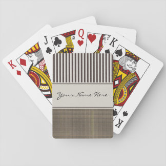 Custom Classic Stripes and Plaid Playing Cards