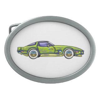 Custom Classic T Top Chevrolet Corvette Oval Belt Buckle