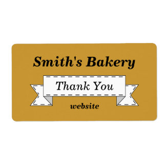 Custom Classic Thank You Business Labels