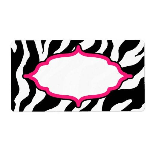 Custom Classic Zebra Labels | Zazzle