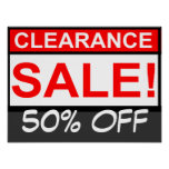 Custom clearance sale Poster