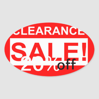 custom clearance sale round stickers