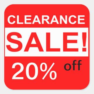 custom clearance sale stickers