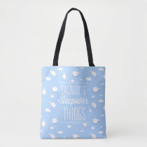 Custom Clouds and Sheep Baby Sleepover Things Tote Bag