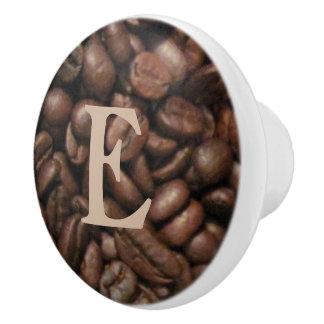 Custom Coffee Beans - cabinet knob Ceramic Knob
