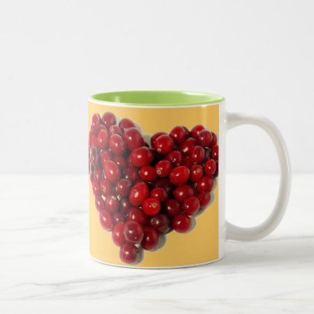 Custom Coffee Mug  Cranberries