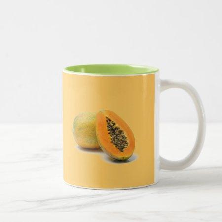 Custom Coffee Mug  Papaya