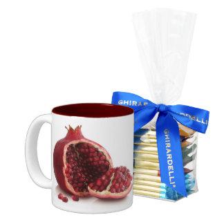 custom coffee mugs--POMEGRANATE with chocolates Two-Tone Coffee Mug