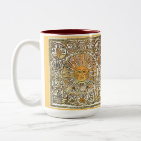 Custom Coffee Mugs--sun Rays Two-tone Coffee Mug