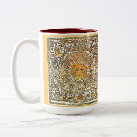 Custom Coffee Mugs--sun Rays Two-tone Coffee Mug