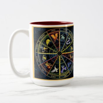 Custom Coffee Mugs--zodiak Spiral Two-tone Coffee Mug by creativeconceptss at Zazzle
