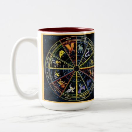 Custom Coffee Mugs--zodiak Spiral Two-tone Coffee Mug