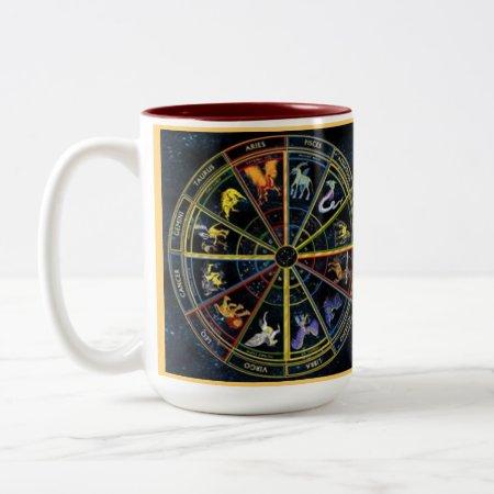 Custom Coffee Mugs--zodiak Spiral Two-tone Coffee Mug