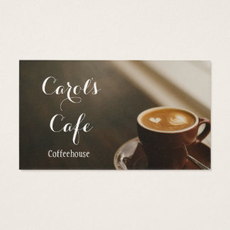 Custom Coffeehouse Cafe Coffee Shop Business Card